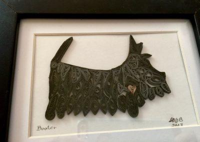 Baxter, completed & framed