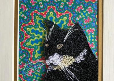 Beamer cat, framed portrait