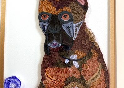 Brick, completed quilled portrait