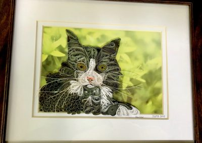 Hester, framed quilled portrait