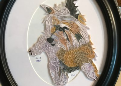Josie, completed quilled portrait
