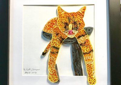 R.Cat, draper framed